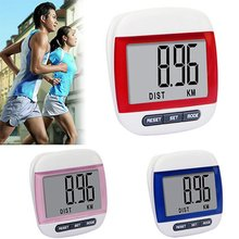 Walking run расстояние калорий жк-цифровой шагомер шаг монитор счетчик водонепроницаемый