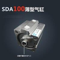 SDA100 * 100 Бесплатная доставка 100 мм диаметр 100 мм Ход Компактный цилиндры воздуха SDA100X100 двойного действия воздуха пневматический цилиндр