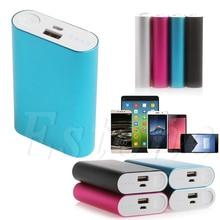 Aluminium 5V 1A batterie externe étui 3X 18650 chargeur de batterie boîte pour téléphone portable