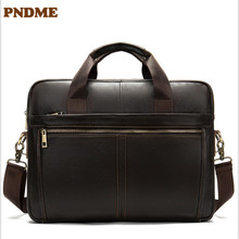horizontal briefcase leather Men's