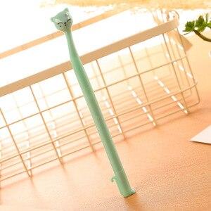 Image 5 - 40 قطعة القرطاسية الإبداعية كوريا المصنع مباشرة بيع لطيف الكرتون هريرة هلام القلم ، قلم توقيع قلم حبر أسود