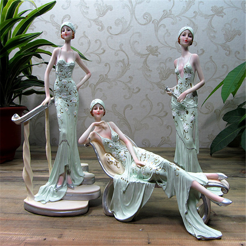 1pcs Action Figure sexy girls Miniature Resin figurines Collectible model gifts Decorations home European-style beauty ornaments