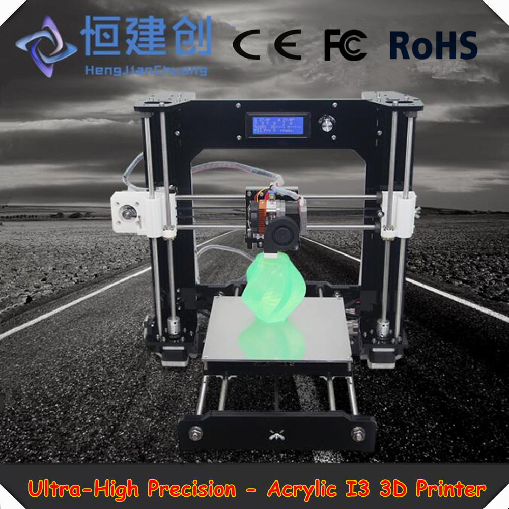 2017 Newest Design Industrial Acrylic I3 3D Printer Support Input USB SD Card Household Desktop Level