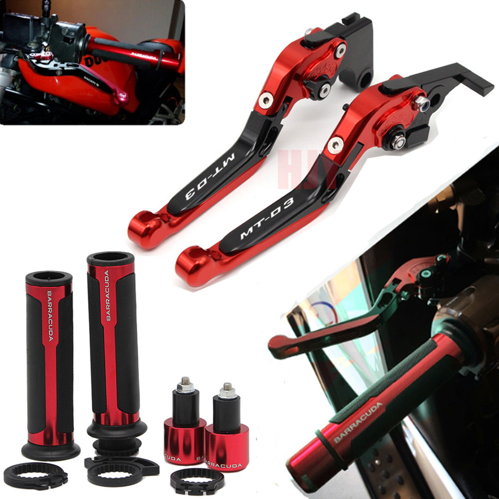 For YAMAHA MT 03 MT03 MT 03 2015 2018 Motorcycle Adjustable Folding Brake Clutch Levers Handlebar