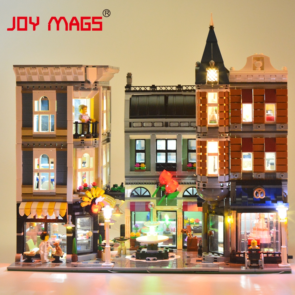 JOY MAGS Led Light Kit (Only Light Set) For Creator The Assembly Square Set Light Set Compatible With Lego 10255 And 15019 joy mags only led light set building blocks kit light up kit for creator series f40 car compatible with lego 10248 21004