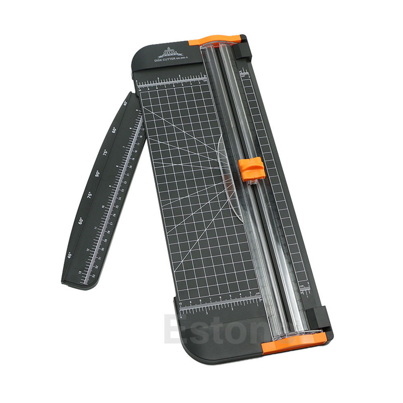 A4 Guillotine Ruler Paper Standard Cutter Trimmer Cutter Paper Shredder Black-Orange Plastic ...
