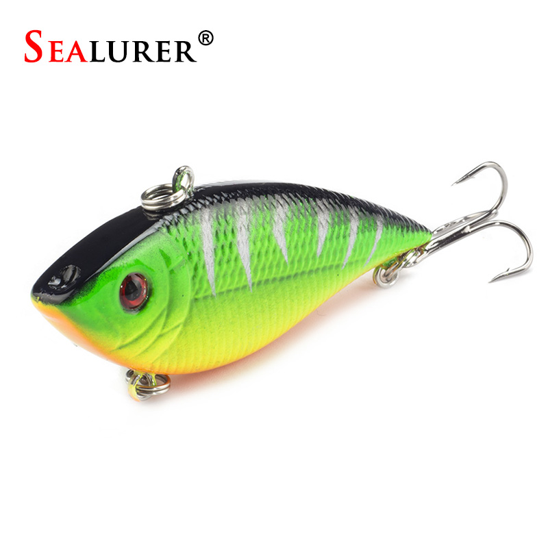 1pcs Winter Fishing Lures Hard Bait VIB With Lead Inside Lead Fish Ice Sea FishingTackle Swivel Jig Wobbler Lure