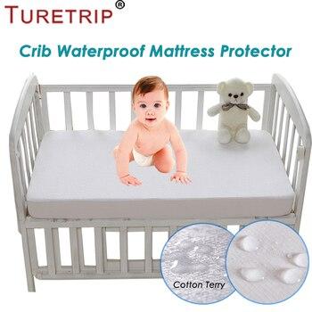 2770c0630 Turetrip 72X132 cm algodón Terry Protector de colchón impermeable para bebé  niño cama cubierta colchón almohadilla cuna sábana impermeable