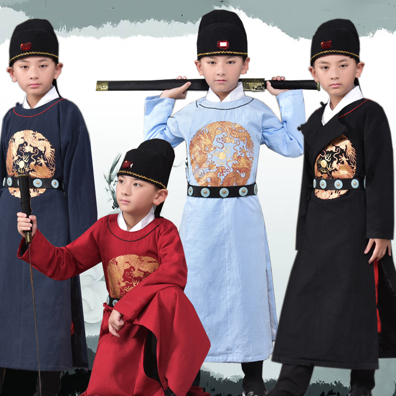 Chinese Traditional Costume for Boy Ancient Hanfu Pricess Clothing Children Robe for Stage Kids Tang Dynasty Long Gown Clothes 9
