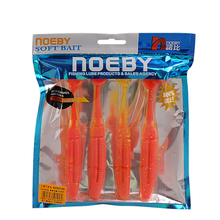 4Pcs NOEBY Soft Bait 130mm 20g T-Tail Fishing Lure Silicone Baits Iscas Artificial Para Pesca Leurre Peche Souple Fishing Tackle