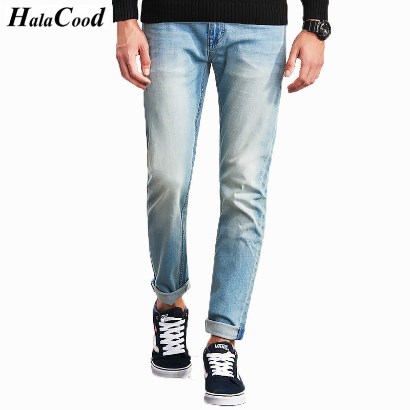 HALACOOD Brand Men Plus Big Size Pants 38 40 42 44 46 48 50 52 Mens High Stretch Big and Tall Large Trouser Jeans Cotton for Men