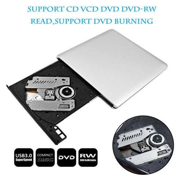 External USB 3 0 Slim Portable DVD RW font b Drive b font Writer Rewriter Burner