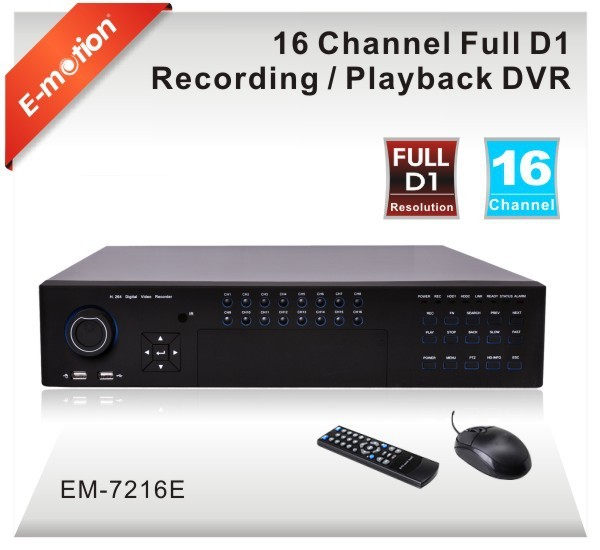 Professional 16ch Full D1 H.264 stand alone DVR with HDMI 1080P output,8HDD,Mobile Phone/Network Monitor, plug and play, no DDNS