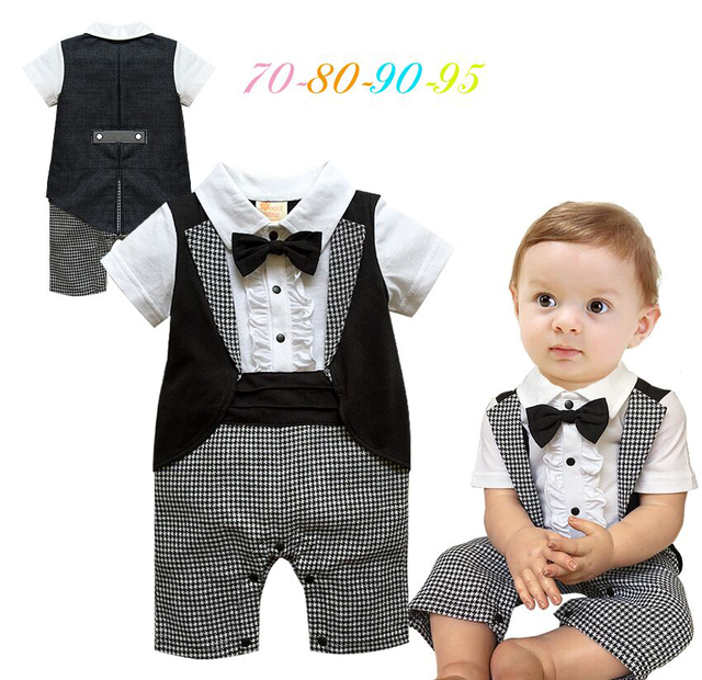 ee14d1603 Baby Boys Clothes Baby Boys Gentleman Clothes Kids Clothes Boys Rompers Children  Clothing Baby Rompers Summer Style 8pieces/lot