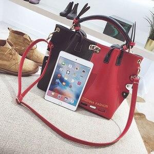 Image 4 - Luxury Handbags Women Bags Designer Womens Panelled Message Bag Female Leather Crossbody Bag Lock Shoulder Bags For Women 2020