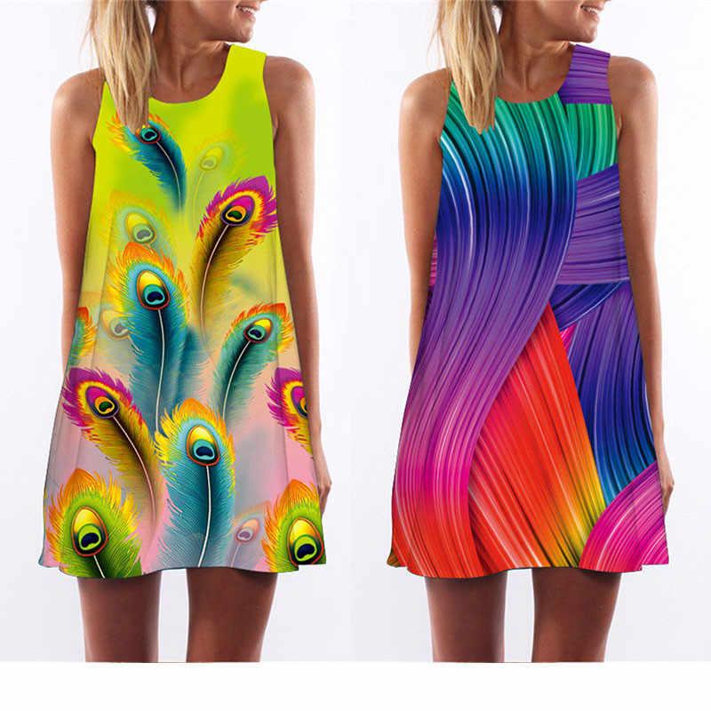 2019 Meibona Vrouwen Retro Jurk Zomer Nieuwe Collectie Mouwloze Mini Jurk Beach Holiday Kleding Print Vest Tank Jurken Vestido