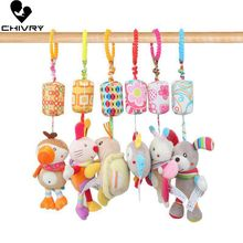 Chivry Baby Kids Rattles Toys Cotton Stroller Accessories Hanging Plush Toy Cartoon Animal Clip Baby Crib Bed Hanging Bells Toys baby kids rattles toys cotton stroller pram crib hanging soft plush toys animal clip baby crib bed hanging bells toys for babies
