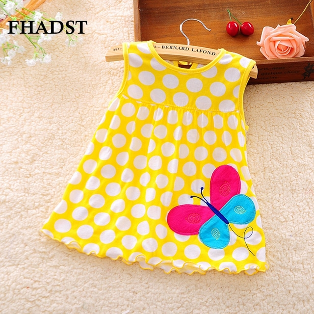 46b2ea29a FHADST 2017 Hot Cute Baby Girl Dress Cotton Regular Fashion vestido ...