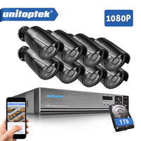 8CH 1080P HD AHD DVR CCTV System With 8Pcs CCTV Camera 2MP 3000TVL Outdoor Waterproof AHD