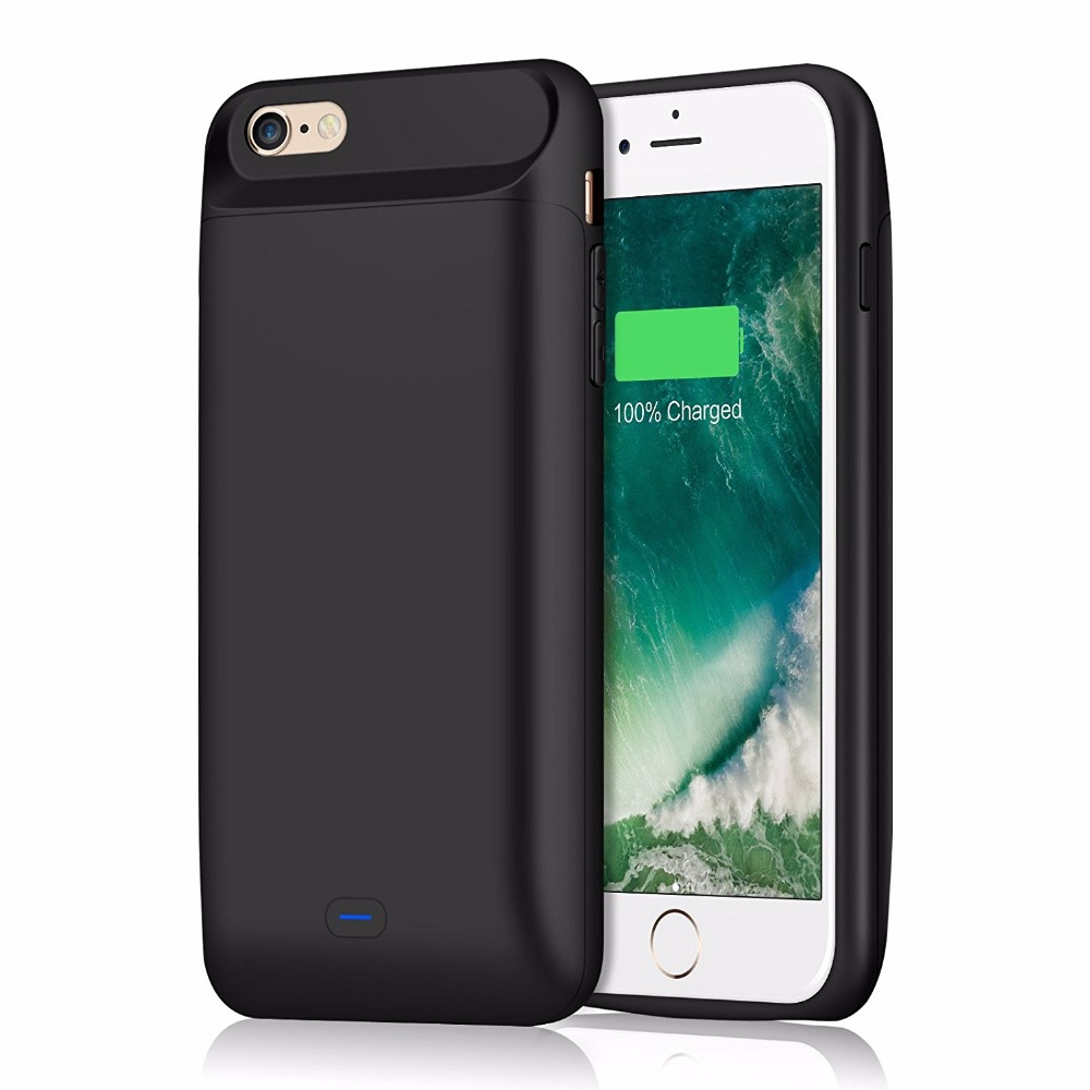 reputable site ea8d3 a6b9c Smart Battery Case for iPhone 6S / 6 5000mAh Rechargeable Portable Charger  for iPhone 6 Plus Power Bank Pack Cover