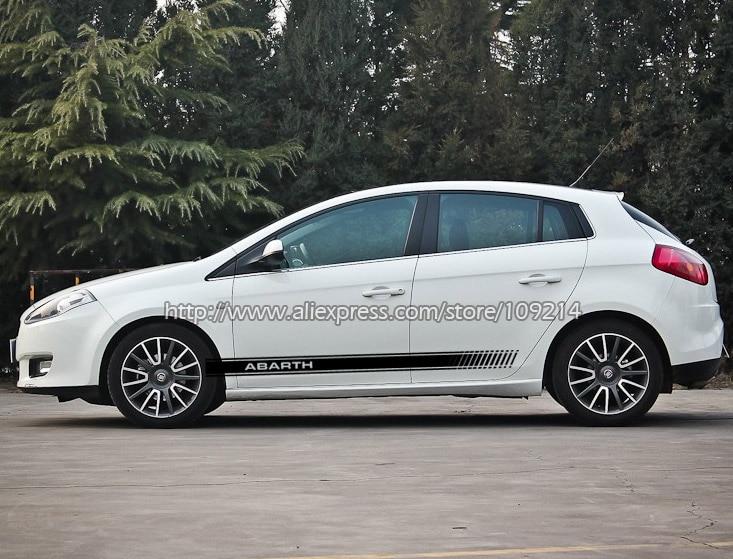 Pour Fiat Abarth Punto 500 Panda Bravo Type A bandes latérales autocollants graphiques autocollants étanche réfléchissant