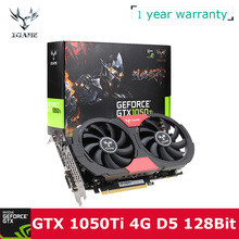 Colorful NVIDIA GeForce GTX 1050Ti 1050 ti GPU 4GB GDDR5 128bit Gaming Video Graphics Cards For Desktop Computer than 960 750Ti(China)