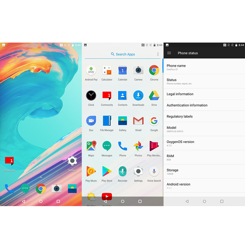 OnePlus 5 T 5 T 6 go/8 go RAM 64 go/128 go ROM Snapdragon 835 Octa Core 6.01