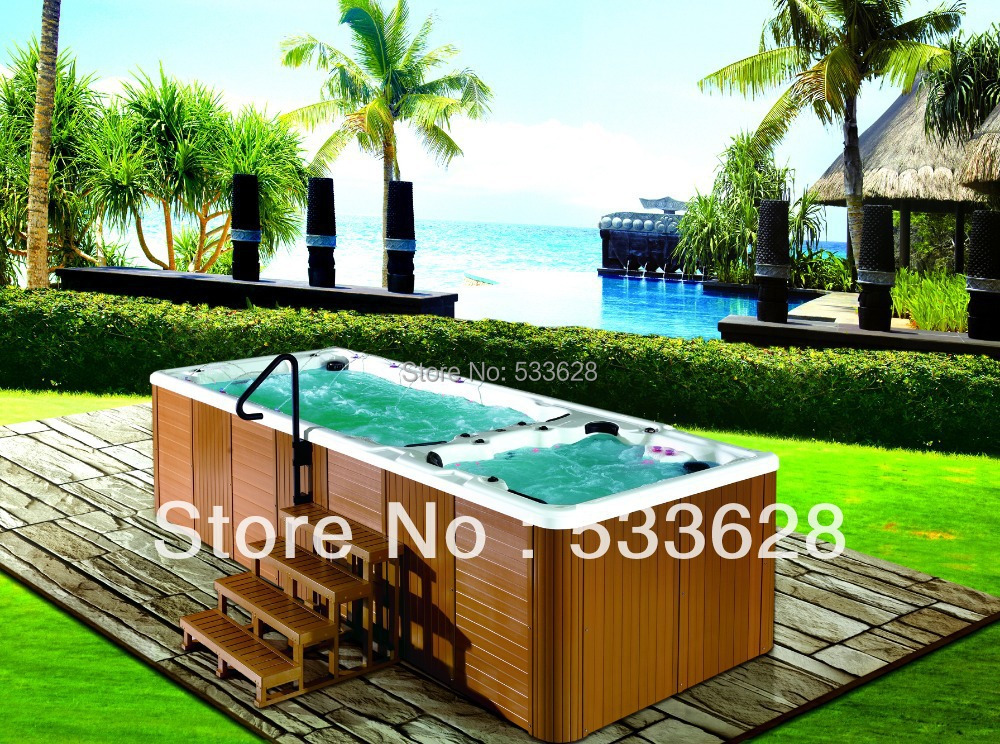 Swimming Pool Hot Tub Combo Swim Spa 5 8 Meters Long 8801