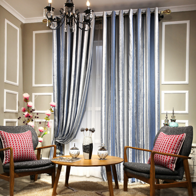 Aliexpress.com : Buy Stripe Curtains Luxury Kitchen Curtains Bed ...