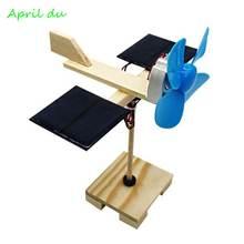 Маленький Электрический вентилятор на солнечной батарее april