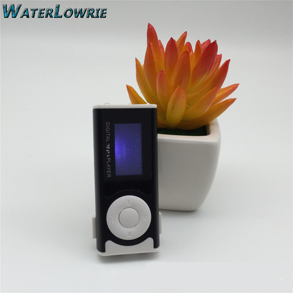Waterlowrie Brand New Mini Clip 1 3 LCD Screen MP3 Music Player Portable mp 3 Player