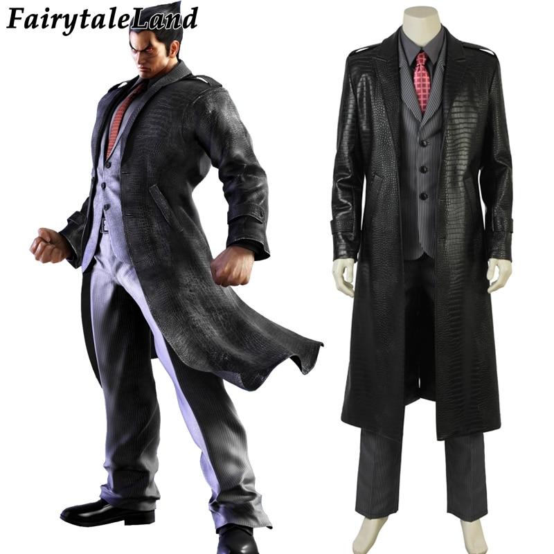 Tekken 7 Kazuya Mishima  Cosplay Costume Hot Game Halloween Costume Tekken Adult Men Mishima kazuya business suits Custom made