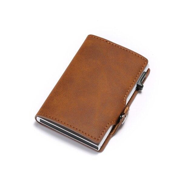 Vintage, carteira Slim RFID, porta cartão de negócios luxuoso, 2020
