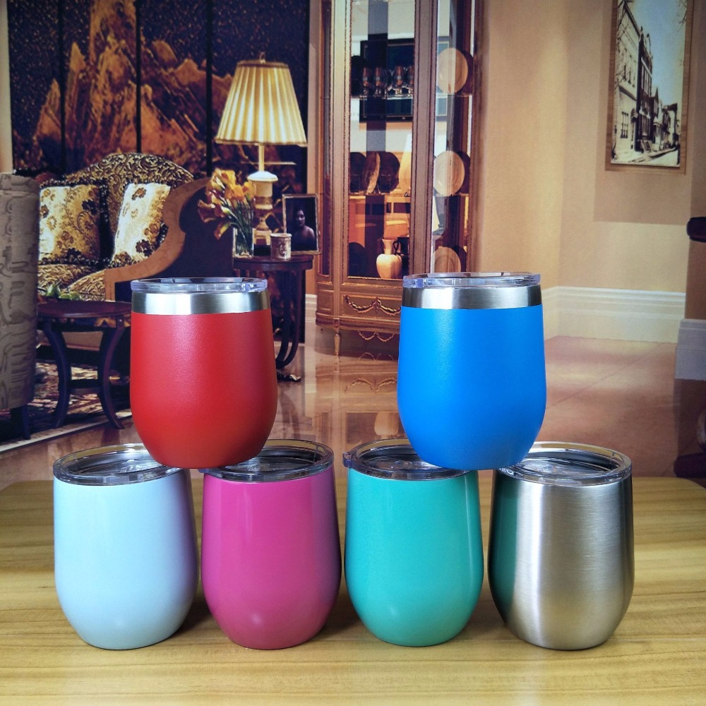 2018 Hot Sale 9oz Wine Tumbler Swig Cups Stainess Steel Egg Cup Vacuum Thermos Cup Coffee Travel Beer Mug Drop Shipping