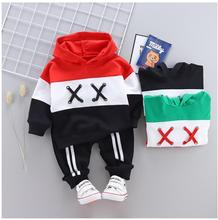hot deal buy zwxlhh 2019 new baby boys girls clothing sets infant kids clothes suits patchwork shirt jeans toddler children  casual costume