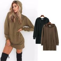 2018 Autumn Hoodies Women Casual Hooded Sweatshirt Long Sleeve Pullover Loose Hoody Black Green Womens Clothing Sweat Femme