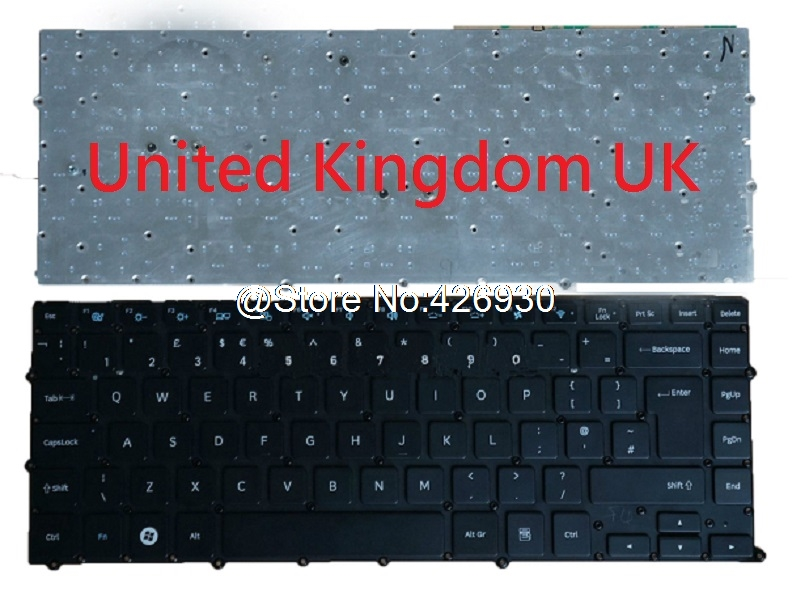 Laptop Keyboard For Samsung NP900X4B NP900X4C NP900X4D 900X4B 900X4C 900X4D Nordic NE Turkey TR France FR United Kingdom UK New new tr keyboard for samsung np rf510 rf511 turkey laptop keyboard with touch palmrest cover topcase