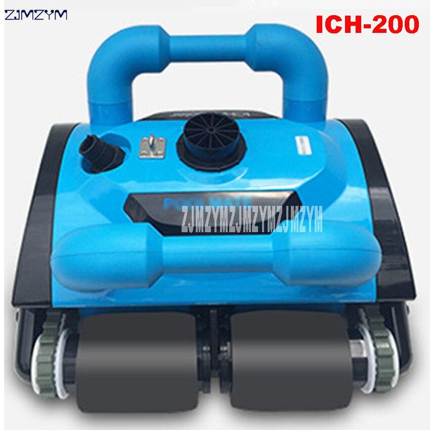 Date entièrement automatique Vide Sous L'eau Piscine Robot aspirateur Robot équipement de nettoyage 110 V/220 V ICH-200
