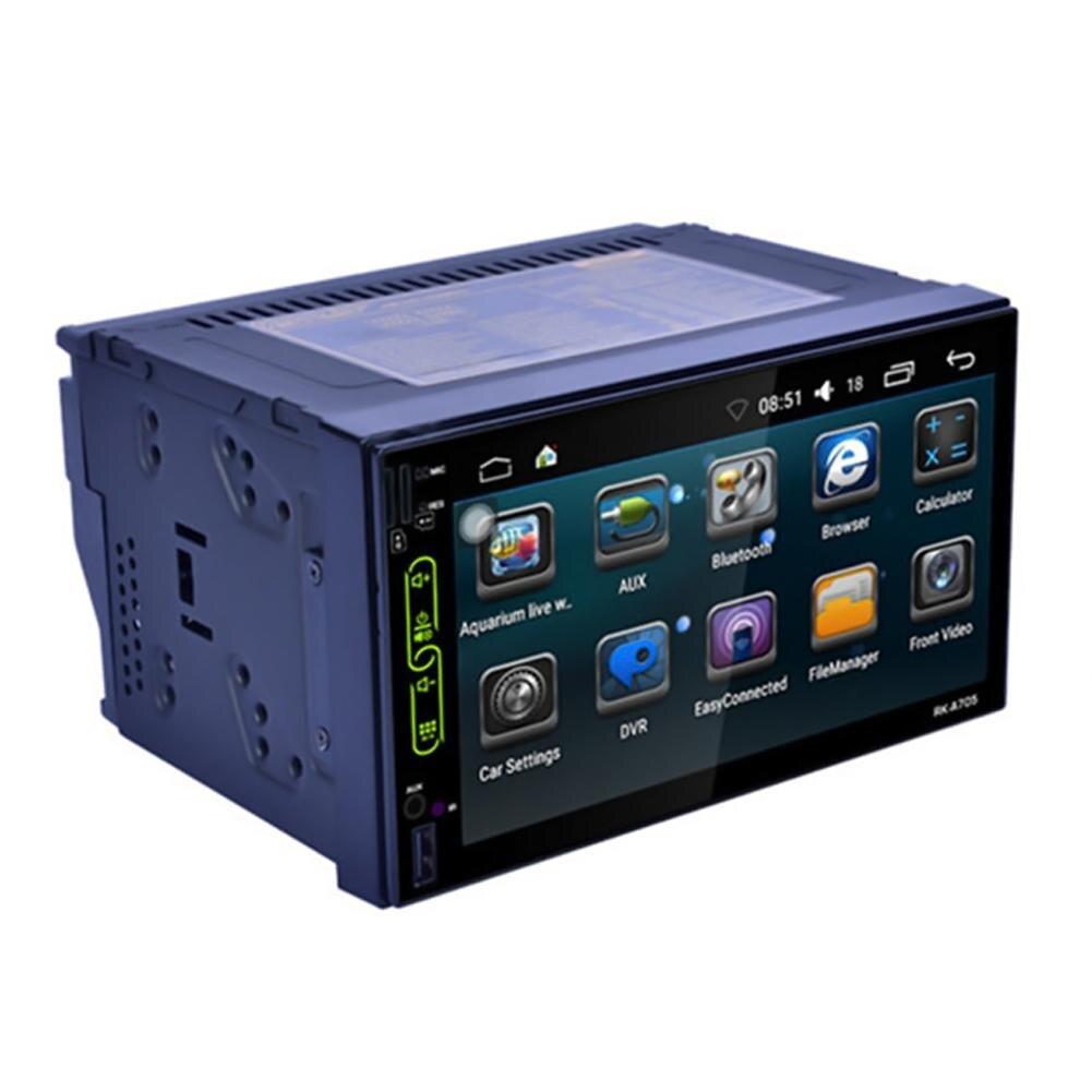2din Car Multimedia Player GPS Navigaiton Mapa Câmera 7 ''HD Touch Screen Bluetooth Autoradio MP3 MP5 Player do carro de navegação zk30