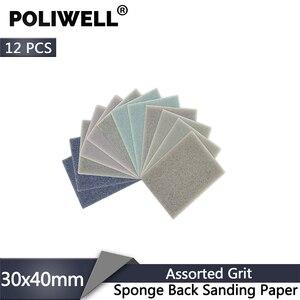 Image 1 - POLIWELL 12Pcs Rectangular Sanding Sponge Block Pad Sandpaper 400 1000 1500 3000 Grit Abrasive Tools Sandpaper Sanding Discs