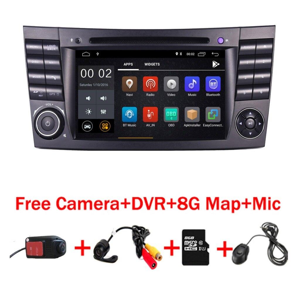 2018 Dernière Android 8.1 IPS Écran Tactile Lecteur DVD de Voiture Pour Mercedes Benz Classe E W211 E200 E220 E300 e350 Quad Core Wifi Radio