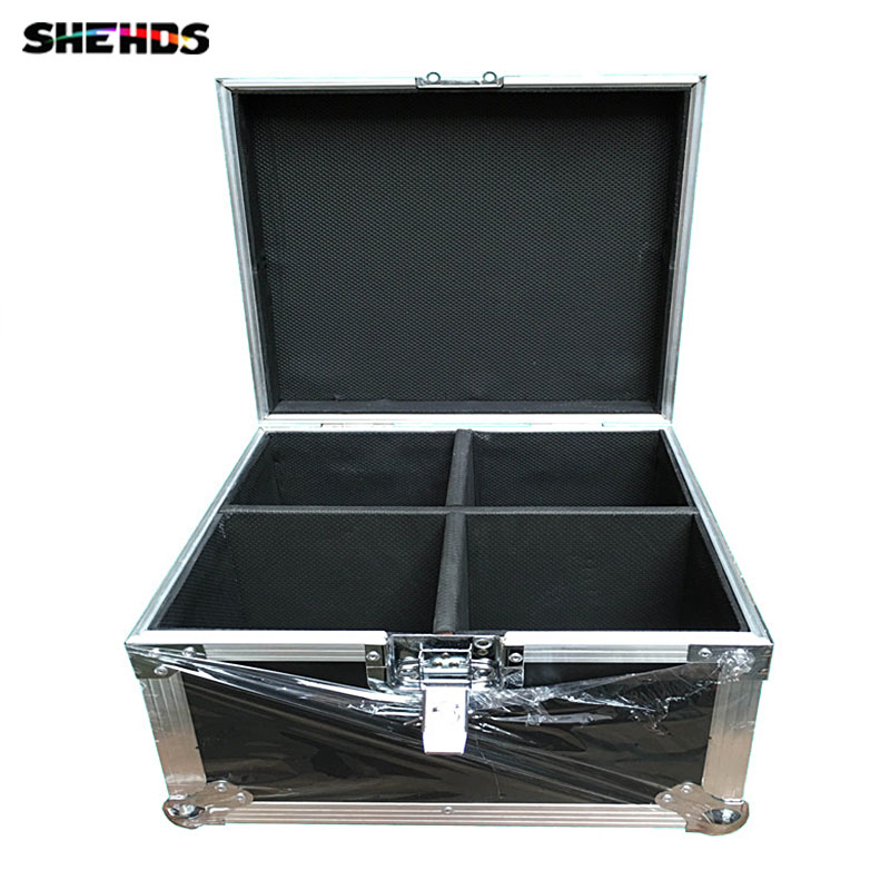 Flight Case with 4 pieces Mini LED Moving Head Spot Light 15W COB RGB  5/13 Channels Fast Shipping flight volume 4