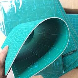 Nuevo tapete de corte A1 rectángulo de Pvc auto sanador blanco núcleo de escritorio de protección tapete artesanal verde oscuro 90cm * 60cm * 0,3 cm