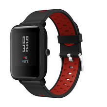 20mm Watch Strap for Xiaomi Huami Amazfit Bip Youth/youth Lite/Amazfit GTS Smart Band Sports Silicone/Galaxy 42mm