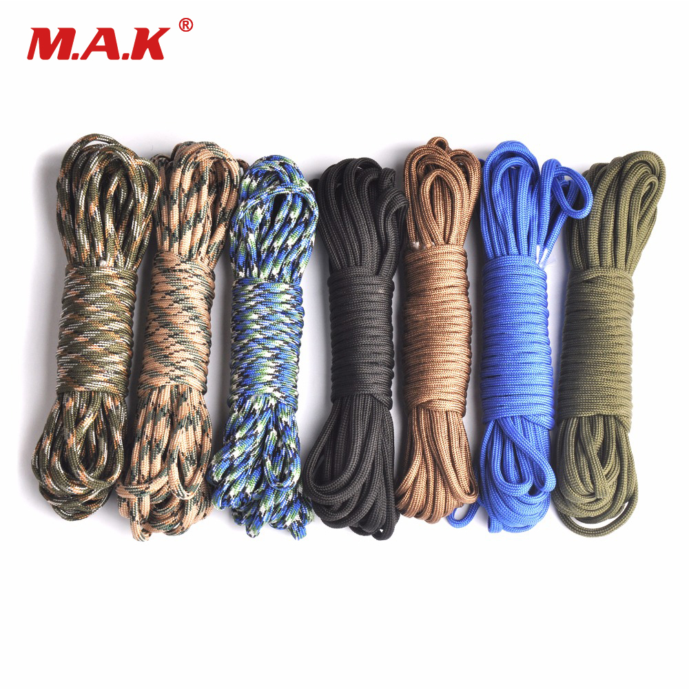 4mm 7 Inner Strand Core Cord 550 Paracord Parachute Rope Lanyard Survival 100ft