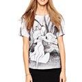 Mujeres patrón de ciervos de la Historieta Camisetas de Manga Corta Impresión de la Señora Kawaii Camisetas Mujer linda Camiseta letras imprimir manga corta Camiseta DT459