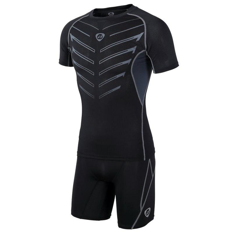 Men Compression Base Layer Tights Skin Sport Wear Fitness Running Shorts LKT Drop Shipping