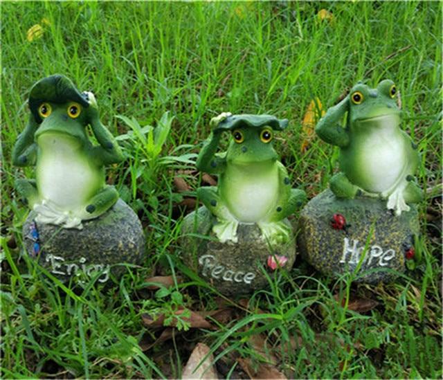 NEW Home Garden Decoration Resin Frog Ornament Decor Outdoor Garden House  Gardening Art Resin Figurine