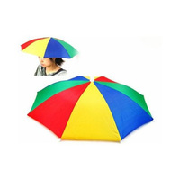 2017 Hot Style Portable Hands Free Headwear Cap Umbrella Hat for Golf   Outside