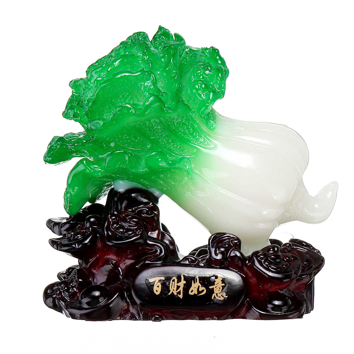 Chinese Lucky Jade Cabbage Decoration Opened Housewarming Gifts Home Decorations Feng Shui Living Room Bedroom Desk Decoration